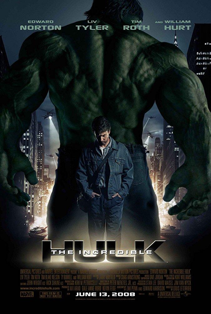マーベル映画インクレディブル・ハルクのポスター
